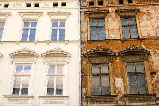 Altbausanierung Saniert Unsaniert © tektur, fotolia.com