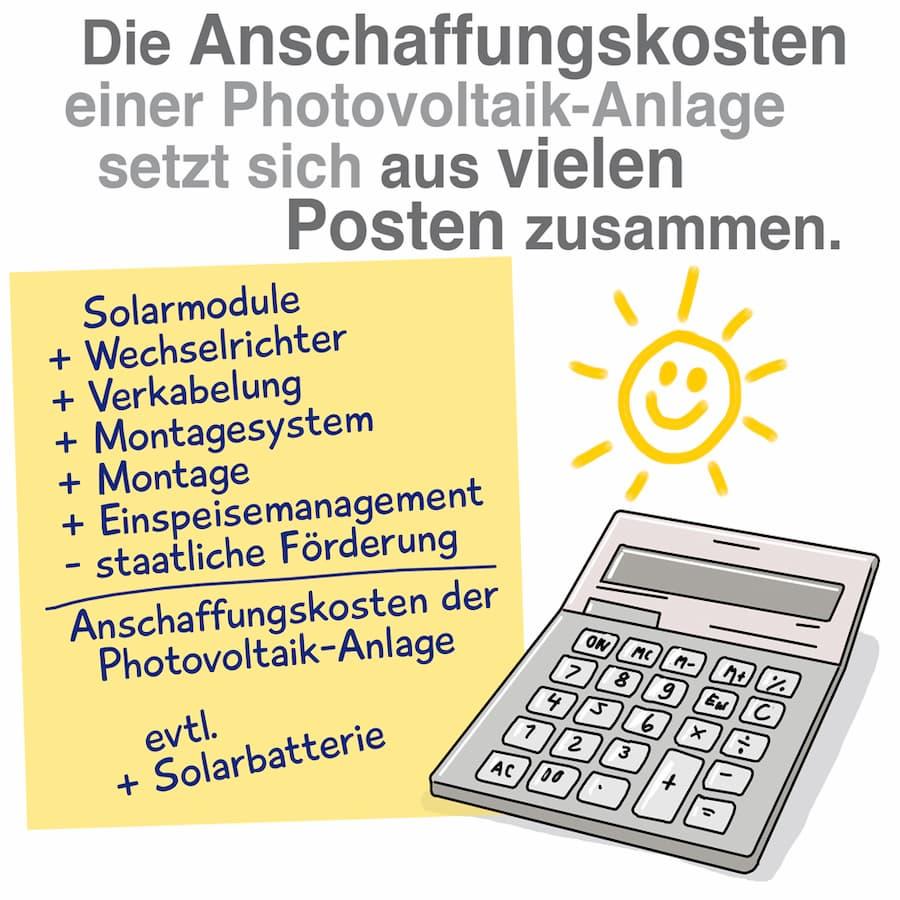 Anschaffungskosten einer Photovoltaikanlage