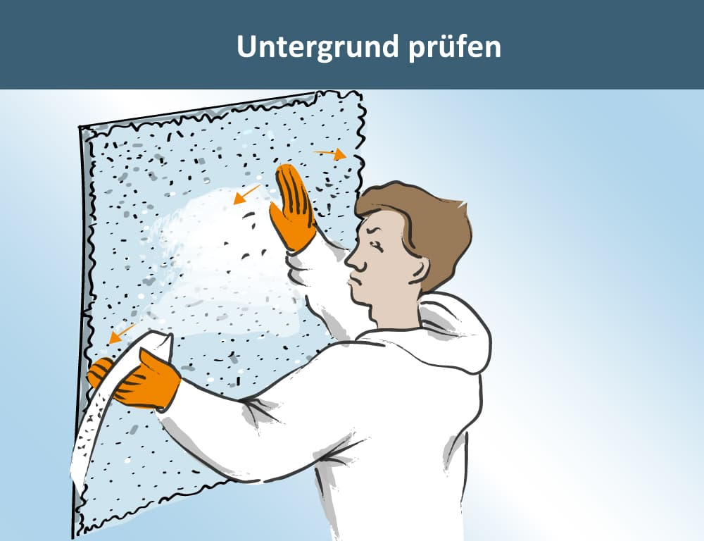 Anstrich Putzfassade Untergrund prüfen