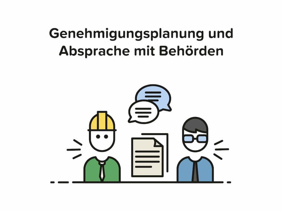 Architekt Aufgaben: Genehmigungsplanung und Absprache mit Behörden