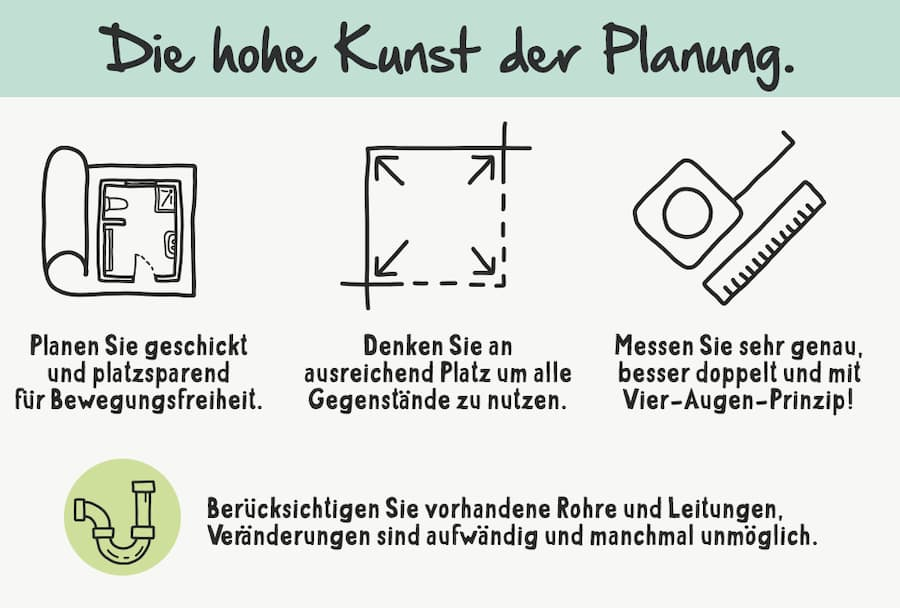 Bad Planung: Wichtige Punkte