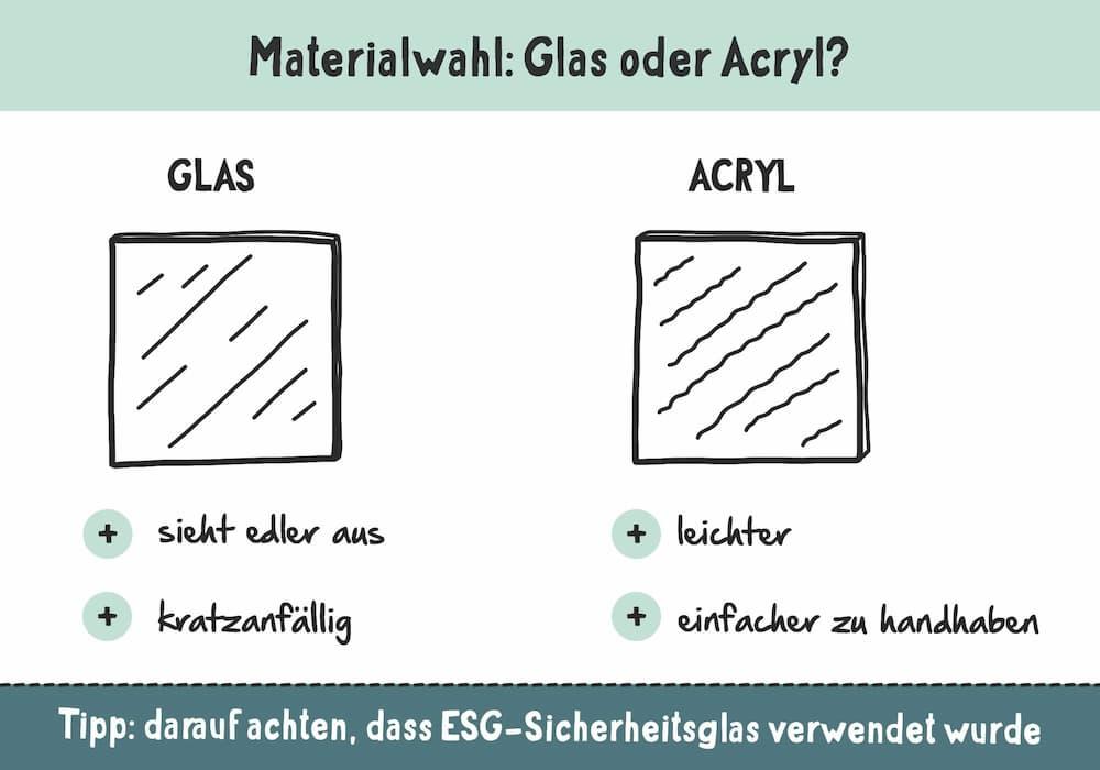 Materialwahl im Badezimmer: Glas oder Acryl