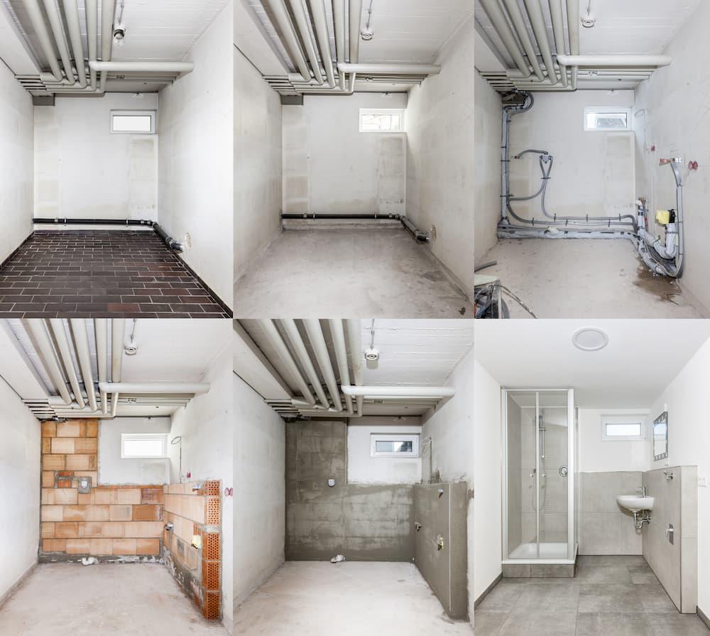 Ein Badezimmer im Keller entsteht © by studio, stock.adobe.com