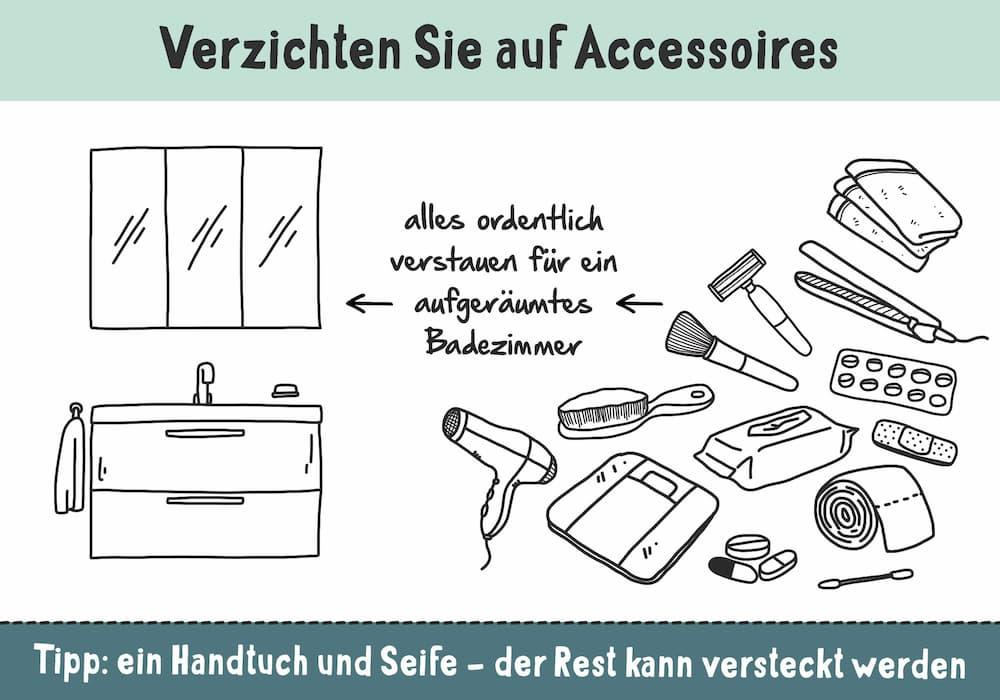 Kleines Bad: Verzichten Sie auf Deko und Accessoires