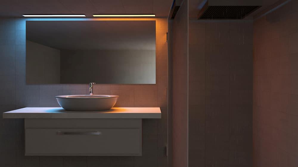 Waschbecken Beleuchtung im Badezimmer © Naeblys, stock.adobe.com