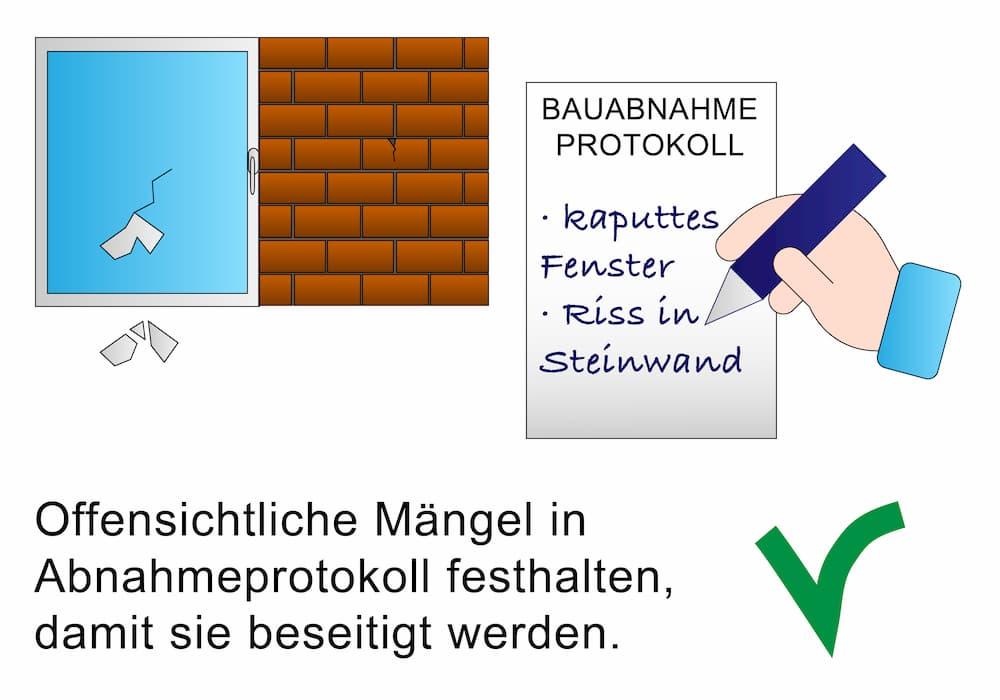 Wichtig: Das Bauabnahmeprotokoll