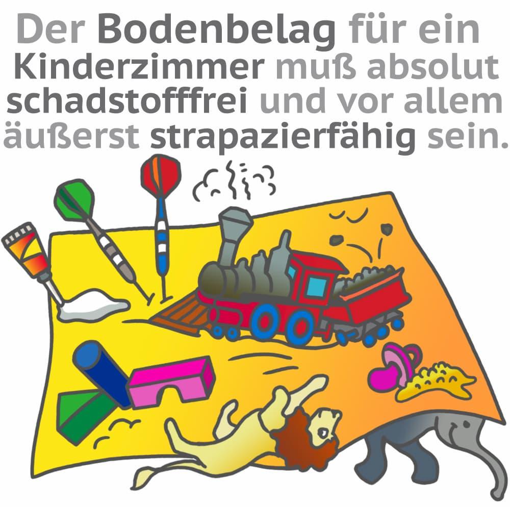 Bodenbelag im Kinderzimmer: Robust und Schadstofffrei