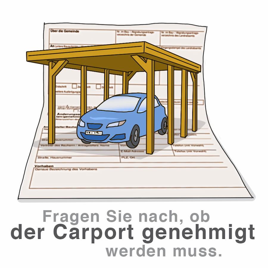 Carport: Baugenehmigung notwendig? Fragen Sie nach