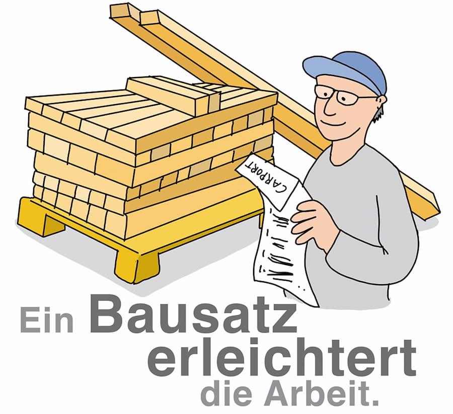Carportbau: Ein Bausatz erleichtert die Erstellung