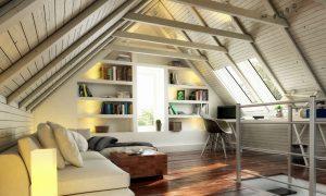 Dachschräge und Farbwirkung