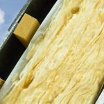 Wärmedämmung an eines DachesThermal insulation of a house roof