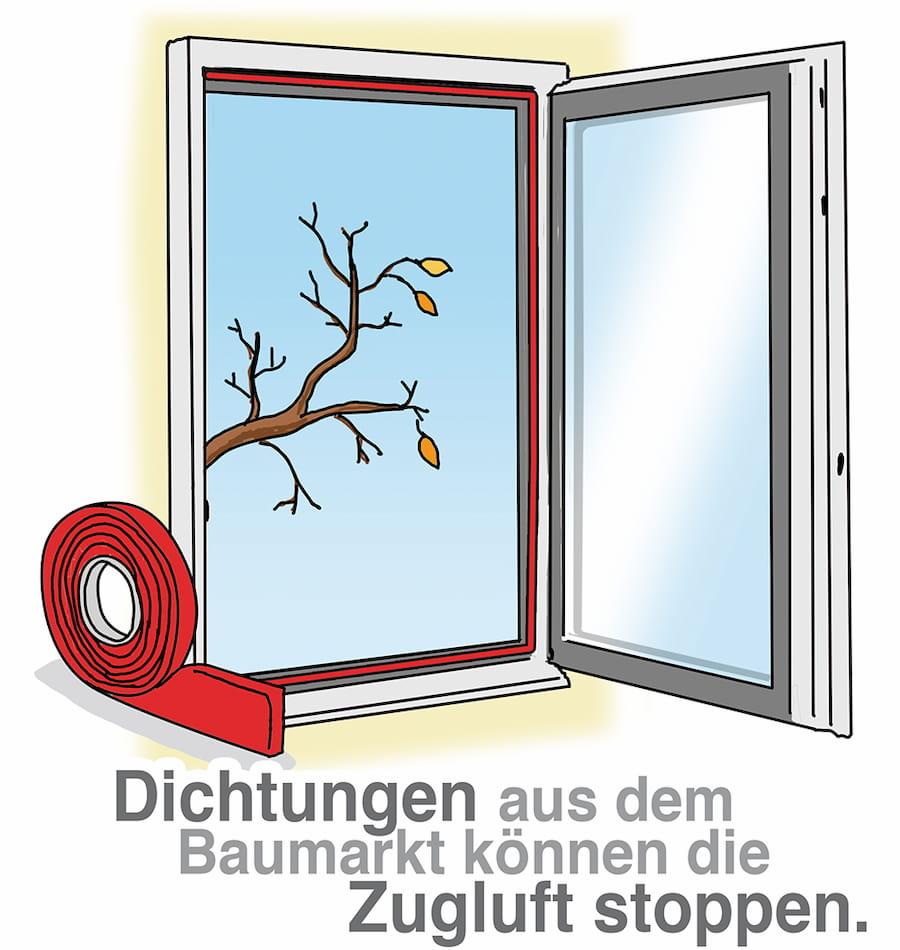 Ineffiziente Fenster: neue Dichtungen können helfen