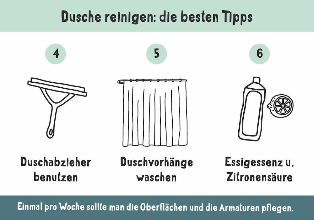 Dusche reinigen, die besten Tipps