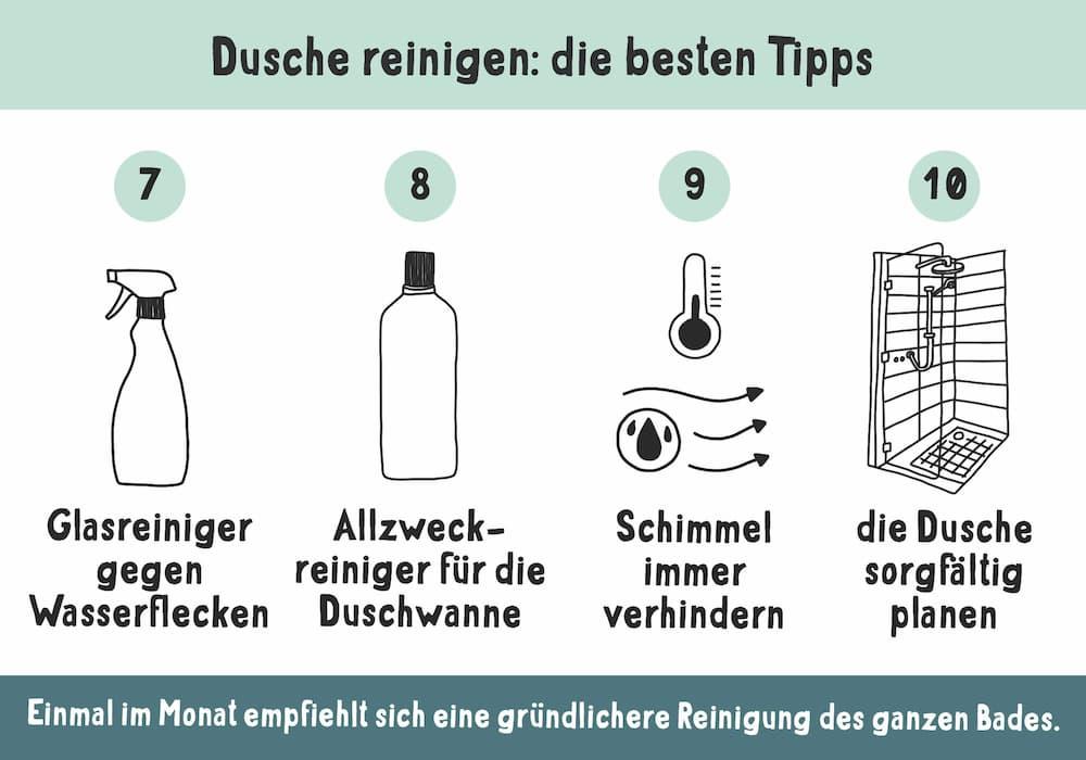 Dusche reinigen, die besten Tipps III