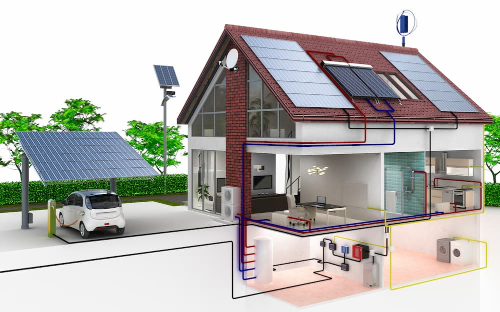 Einfamilienhaus mit regenerativem Energiekonzept © 4th Life Photography, stock.adobe.com