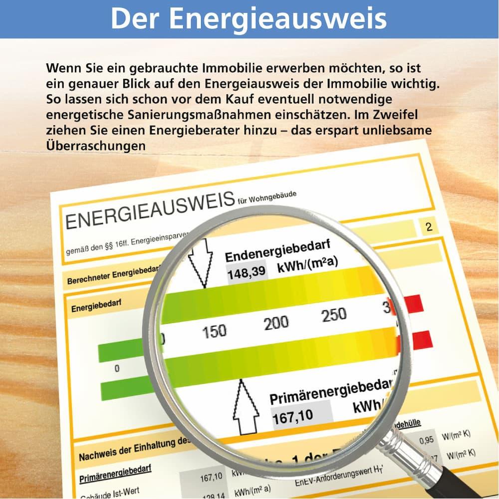 Der Energieausweis bewertet den Energieverbrauch von Immobilien