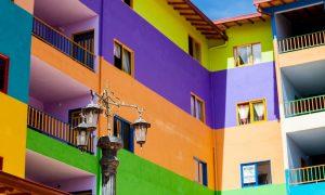 Farbgestaltung von Fassaden