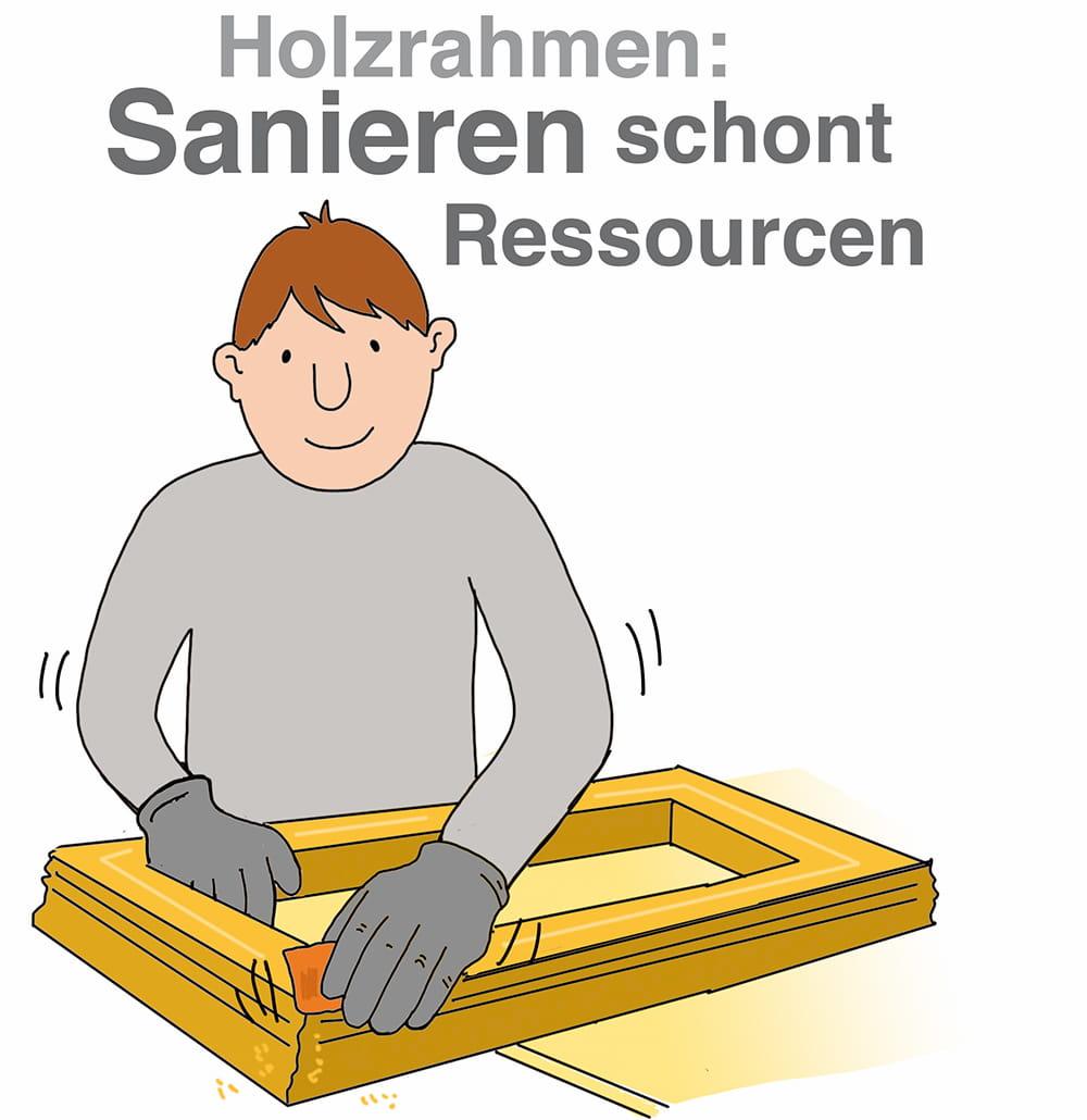 Holzrahmen sanieren macht bei kleineren Schäden durchaus Sinn