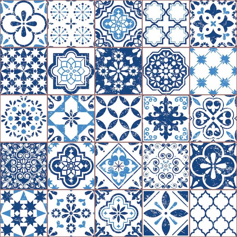 Fliesen im blau-weißem-Muster © redkoala, stock.adobe.com