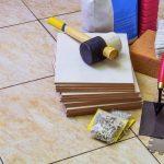 Werkzeuge zum Fliesen verlegen