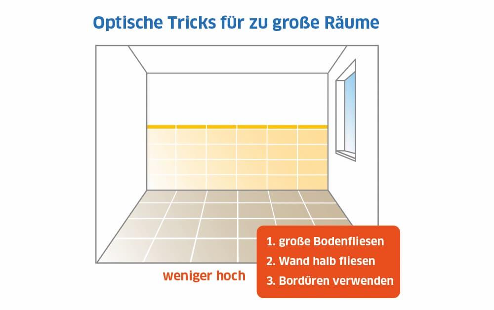 Fliesenformate und Verlegung: Optische Tricks für große Räume