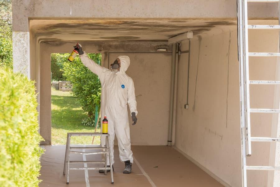 Innenreinigung der Garage: Auch Schimmel und Flecken werden entfernt © ZAPF