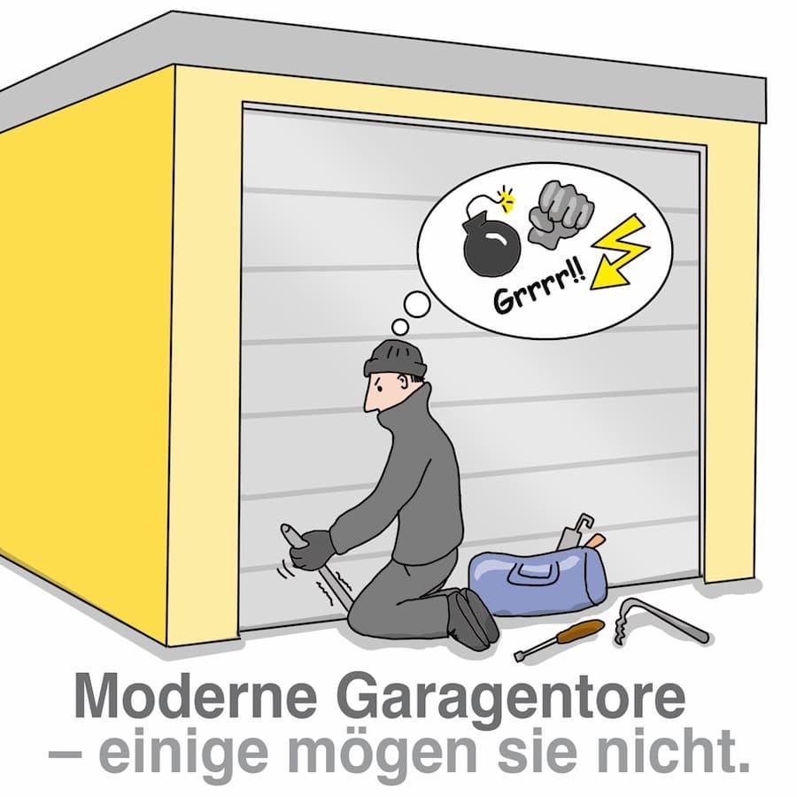 Moderne Garagentore verfügen über einen guten Einbruchschutz