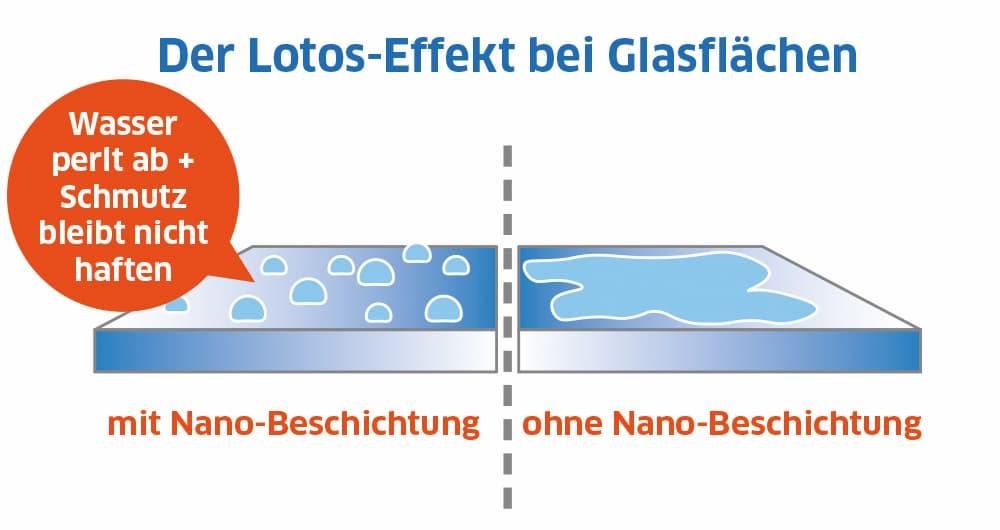 Der Lotus-Effekt bei Glasflächen