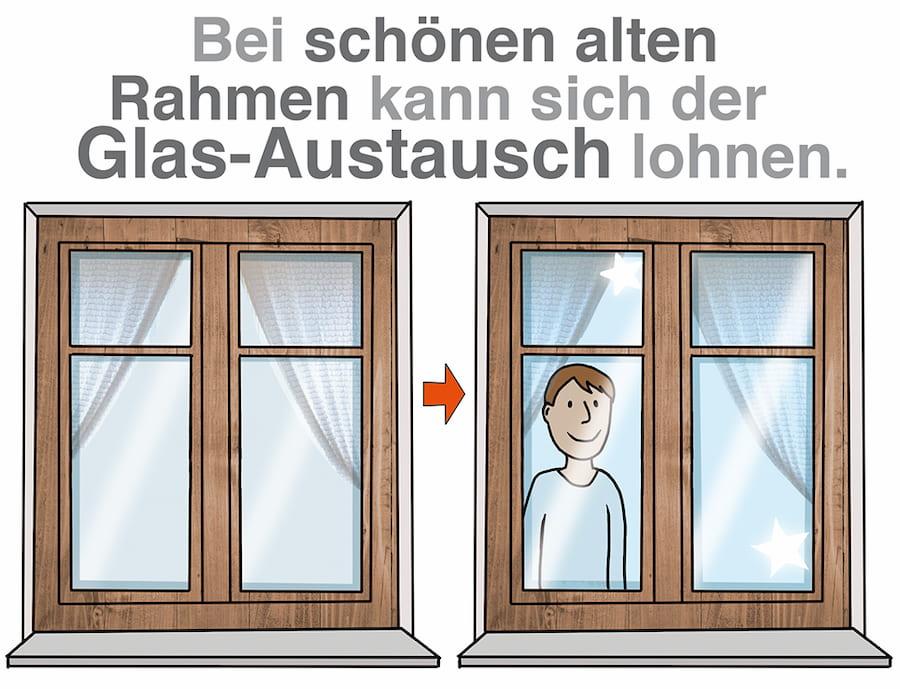 Bei schönen alten Rahmen kann sich der Glas-Austausch lohnen