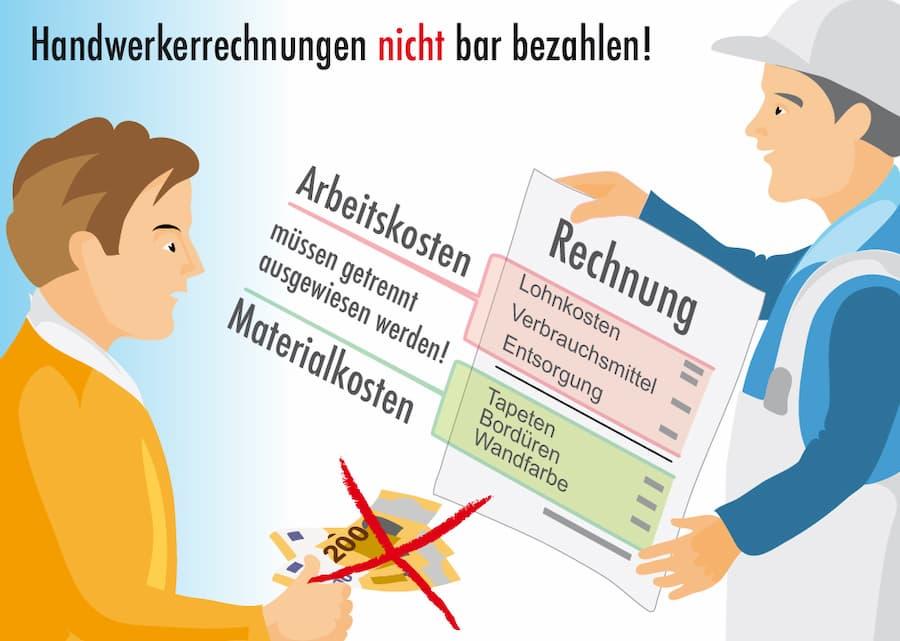 Wichtig: Handwerker Rechnungen nicht bar bezahlen
