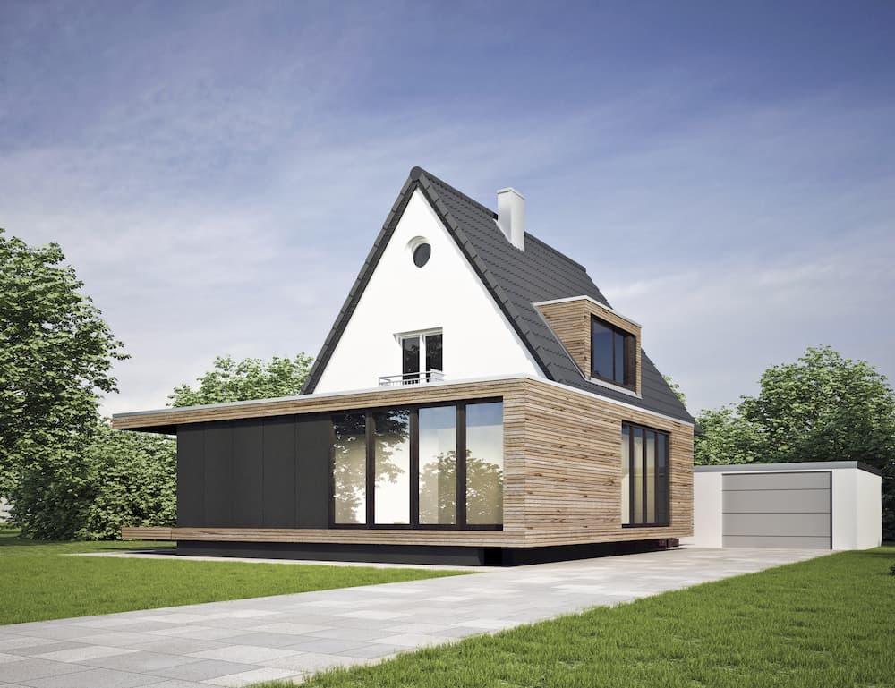 Haus mit modernem Anbau © KB3, stock.adobe.com