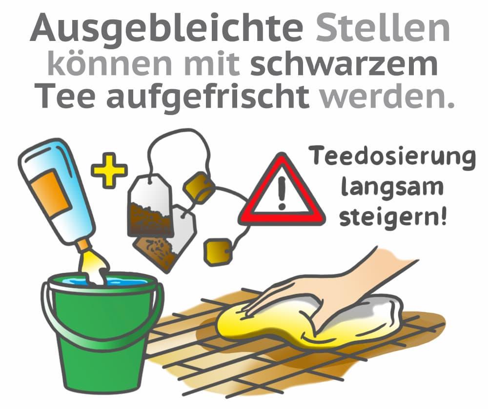 Holzboden auffrischen: Schwarzer Tee kann helfen