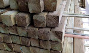 Kesseldruckimprägniertes Holz