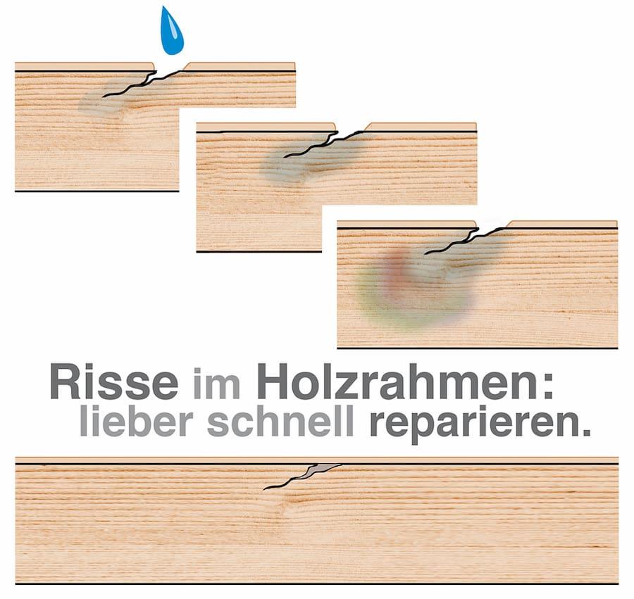 Holzkonstruktion: Risse schnell reparieren