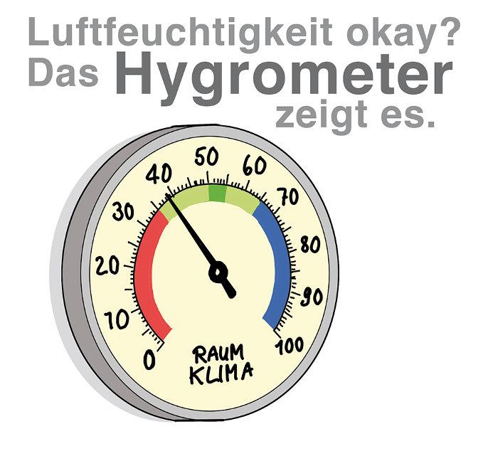Mit dem Hygrometer die Luftfeuchtigkeit messen