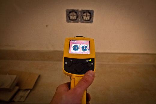 Infrarotkamera macht undichte Stellen sichtbar © Bauherren-Schutzbund e.V.