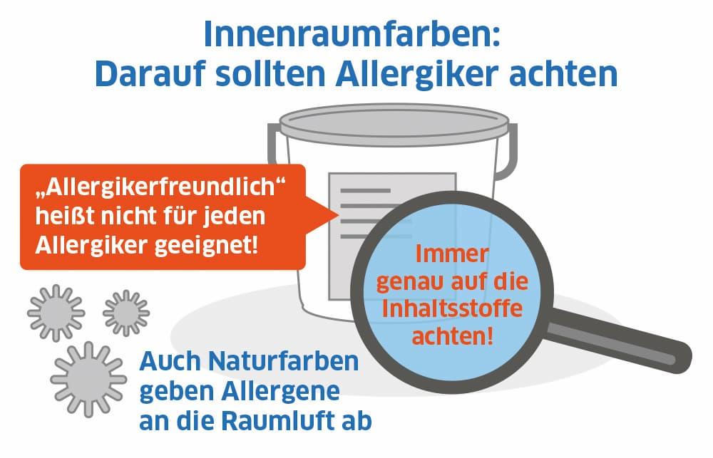 Innenraumfarben: Darauf sollten Allergiker achten