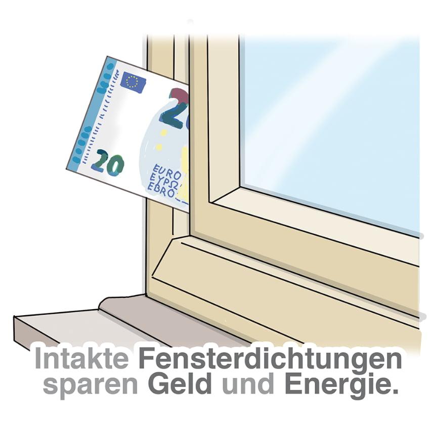 Intakte Dichtungen sparen Geld und Energie