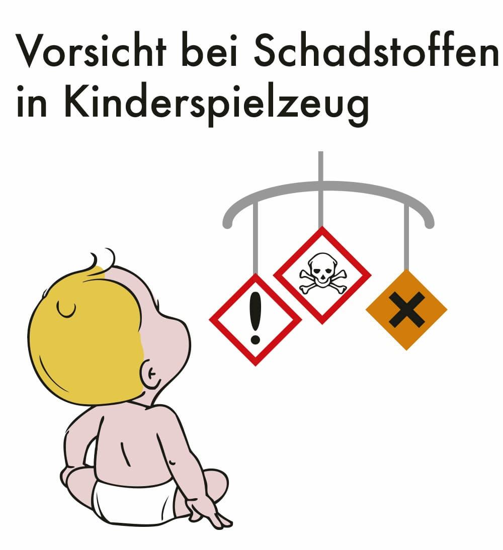 Vorsicht bei Schadstoffen im Kinderspielzeug