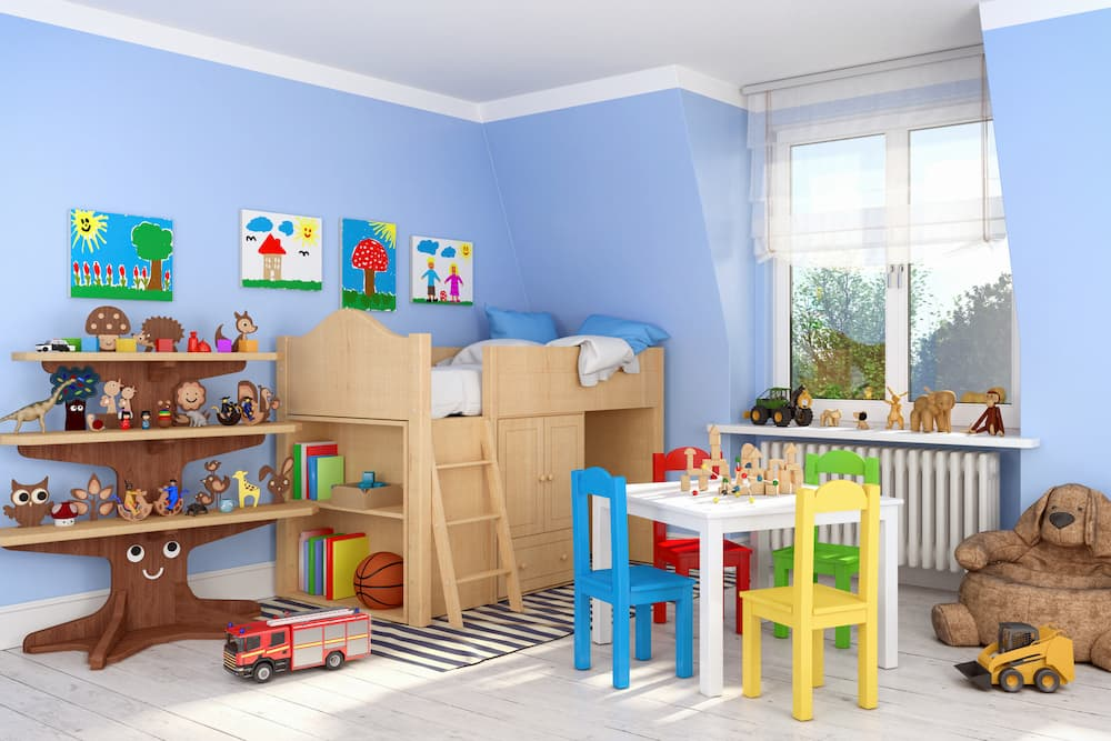 Möbel im Kinderzimmer © marog-pixcells, stock.adobe.com