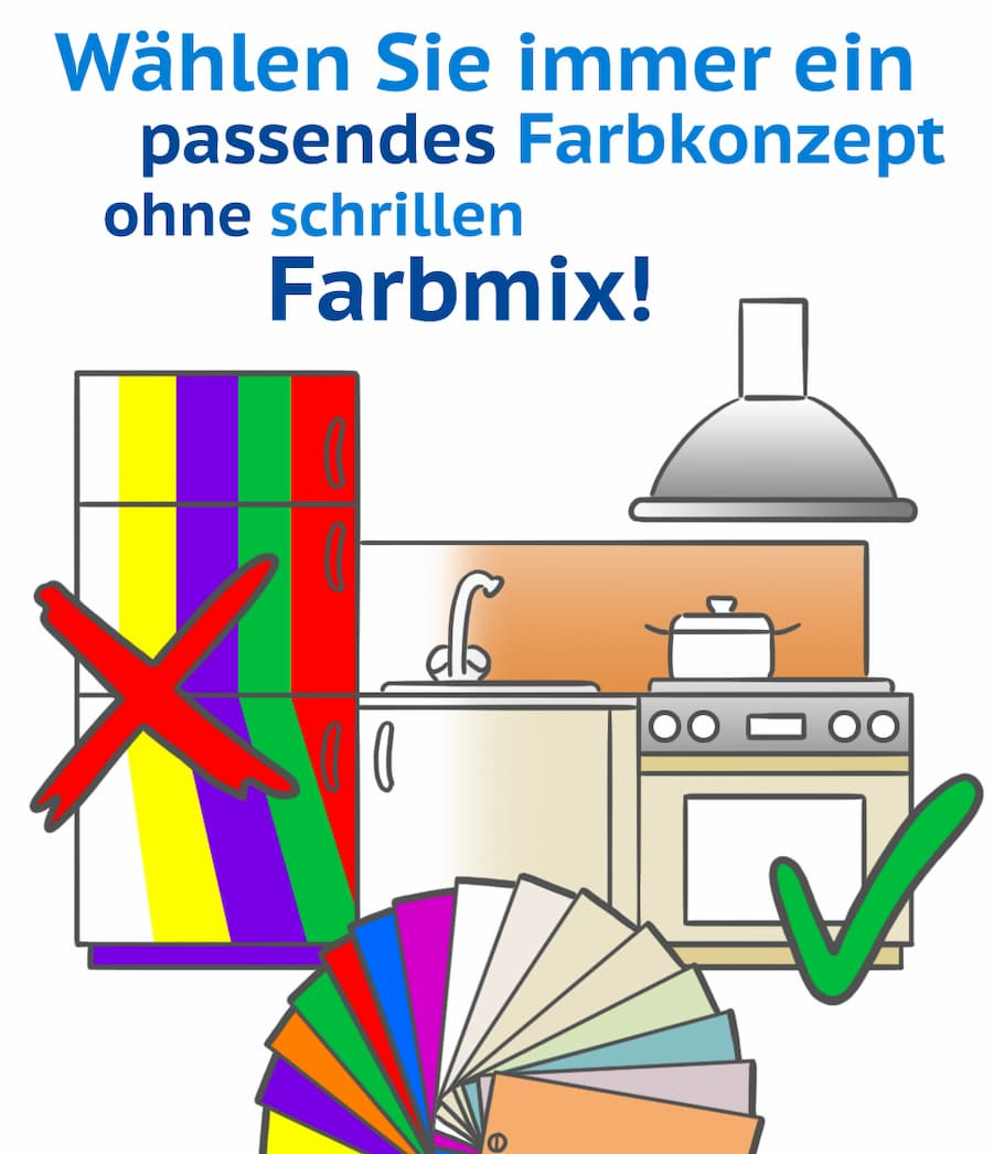Küche: Wählen Sie ein passendes Farbkonzept