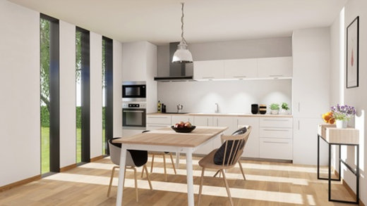 Küche mit Holzboden © sebastien, fotolia.com