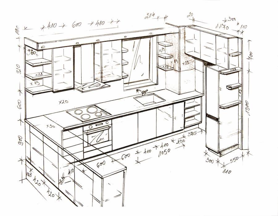 Skizze einer Küche © Angel Vasilev, stock.adobe.com