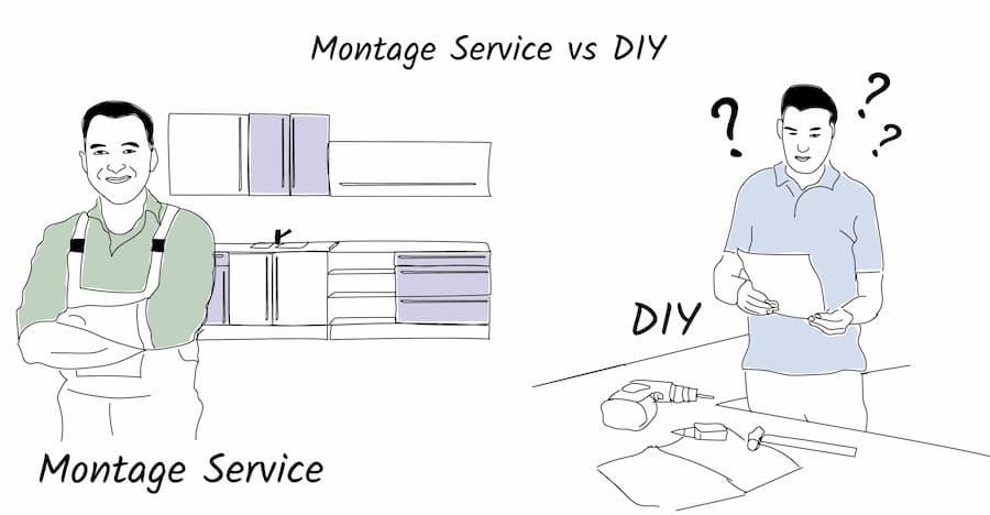 Küchenaufbau: DIY oder Montage-Service