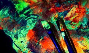 Gestalten mit Leuchtfarben
