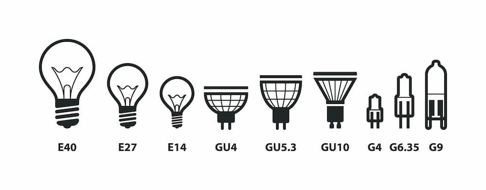 Die gängigsten Sockel von Leuchtmitteln © SolaruS, stock.adobe.com