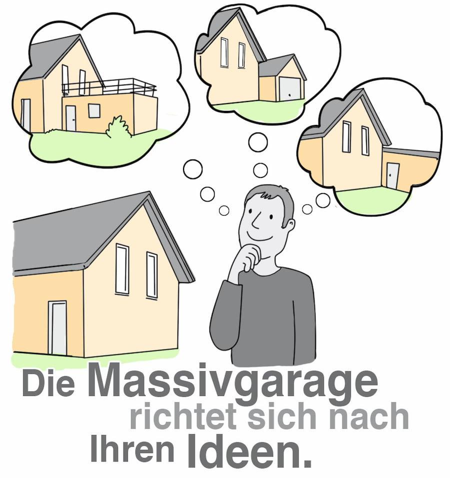 Massivgarage: Individuelle Planungen sind möglich