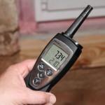 Messung Luftfeute und Temperatur im Keller © Bauherren-Schutzbund e.V.