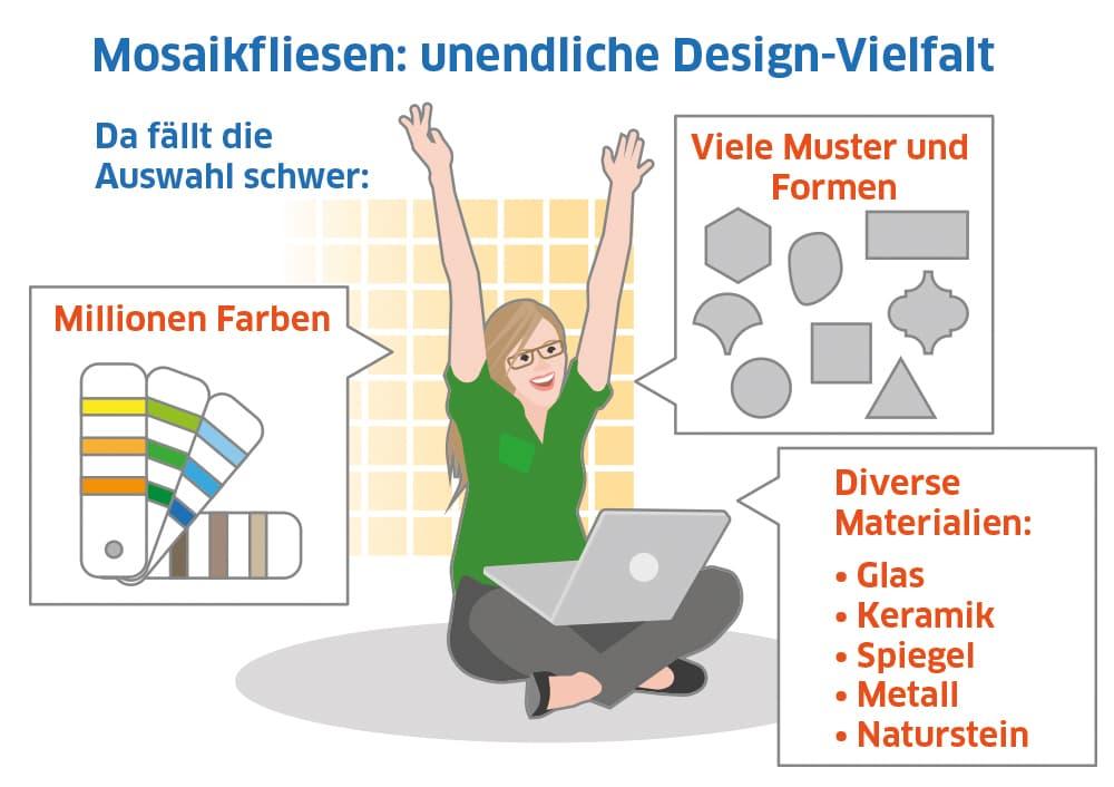 Mosaikfliesen: unendliche Design-Vielfalt