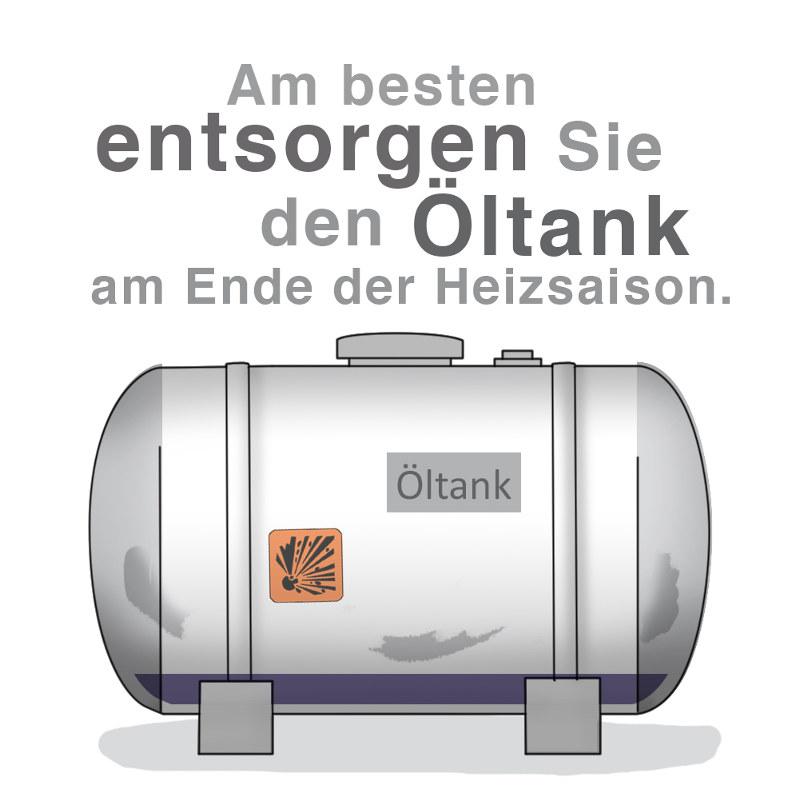 Öltank entsorgen: Am besten wenn der Tank leer ist